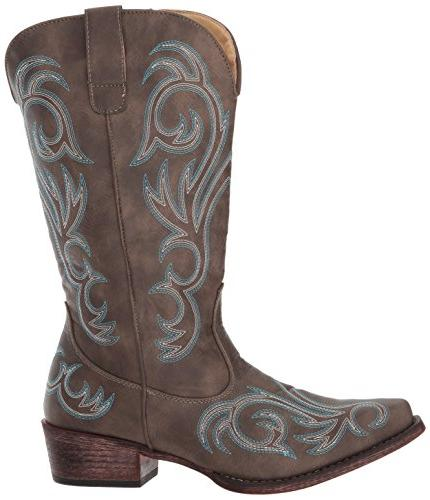 Roper Western Boot, Brown, US