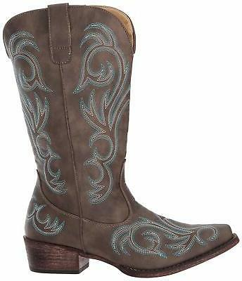 women s riley western boot brown size