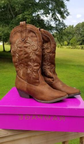 Women's Rampage Cowboy Cowgirl Boots
