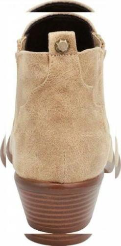 Cambridge Select Western Cowboy Stacked Heel Ankle Bootie