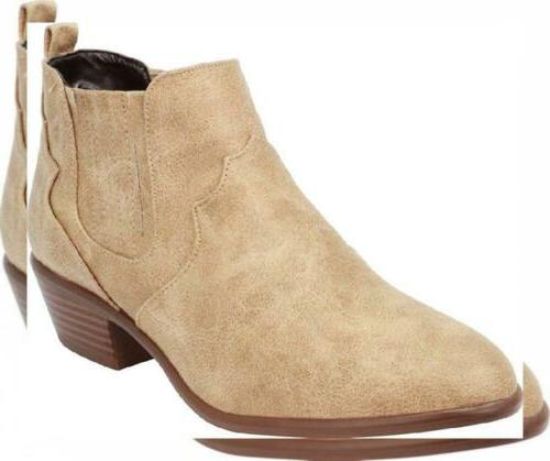 women s western cowboy stacked chunky low