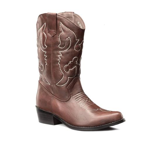 SheSole Women's Western Cowgirl Cowboy Brown Boots Size 9