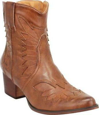 Cambridge Select Pointed Toe Stacked Ankle Boot