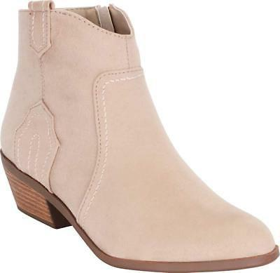 women s western stitched low stacked heel