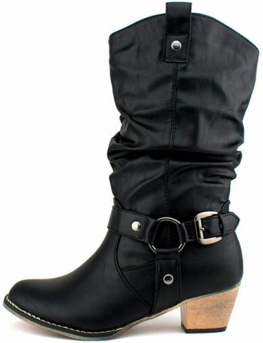 Women Style Cowgirl Heel Shoes