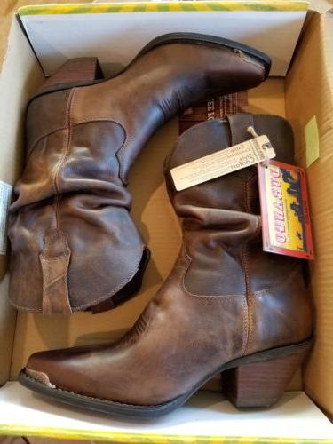 womens leather boots crush 9 5 cowboy