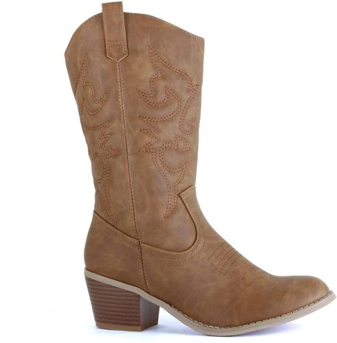 West Blvd - Womens Miami Cowboy Western Boots 8.5 BM US, Che