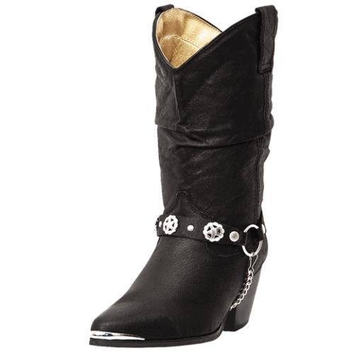 DINGO WOMENS OLIVIA PIGSKIN SLOUCH WESTERN COWBOY BOOTS DI 5