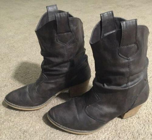 womens slouch western cowboy boots sp 08017