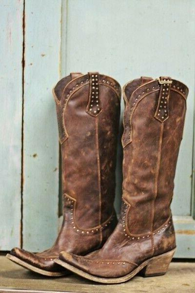 womens vintage western boots cowboy faux leather