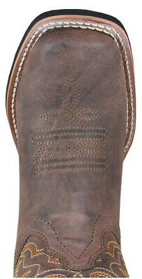 Smoky Mountain Boots Youth Boys Memphis Brown Faux Leather C