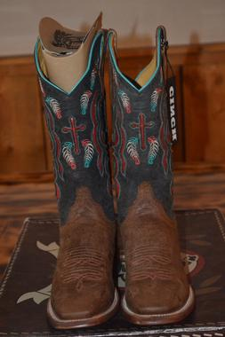 new ladies cowboy boots size 10b leather