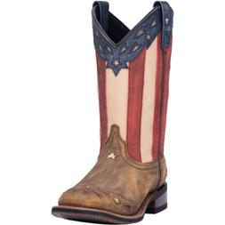 Laredo Womens Freedom Western Cowboy Boots Wheat Flag Leathe