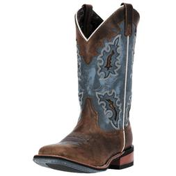 Laredo Womens Ilsa Western Cowboy Boots Distressed Leather S