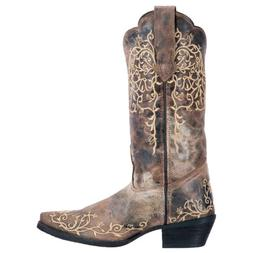 Laredo Womens Jasmine Western Cowboy Boots Floral Embroidery