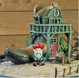 "LAST ONE! MINIATURE GARDEN ""COWBOY BOOT SALOON HOUSE + BONUS"