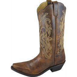Smoky Mountain Madison Woman's Brown Leather Cowboy Boots Si