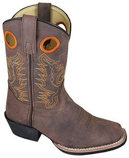 Smoky Mountain Childs Memphis Sq Toe Boot Brown Distress, 11
