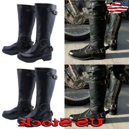 Men Knight Boots Classic Motorcycle Booties Biker Shoes Cowb
