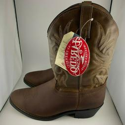 Men's Laredo 12-Inch Leather Western Trucker Cowboy Boots Br