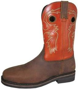 "Smoky Mountain Boots Men's 4531 Grizzly 10"" Steel Toe Cowboy"