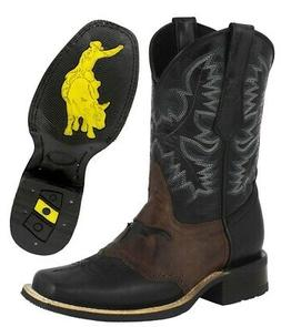 1095aa749c3 Mens Square Toe Cowboy Boots Black Genui...