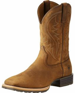 Ariat Men's Distressed Brown Hybrid Rancher Cowboy Boots - S