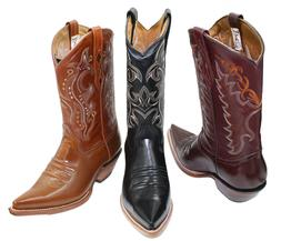 Men's Genuine Leather Western Cowboy Boots Style CR200 Camal