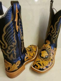 MEN'S NEW HANDTOOLED COWBOY BOOTS ONLY THE BEST HANDTOOLED W