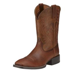 Ariat® Men's Sport Western Wide Square Toe Fiddle Brown Boo