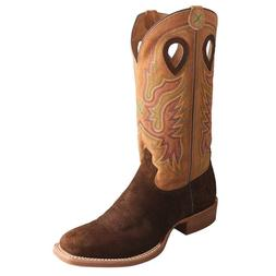 Twisted X Men's Tobacco Ruff Stock Cowboy Boots MRS0045
