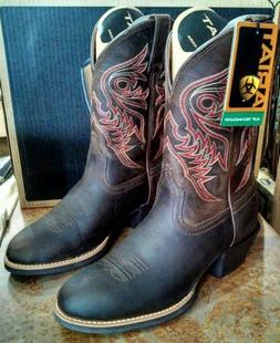 ARIAT Men Sport Brumby Western Cowboy Brown Leather Round To
