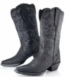 Mens Black Cowboy Boots Shoes For Crew Brand