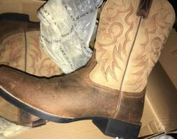 Mens Ariat Boots Size 9.5 Medium 10002224 Leather Square Toe