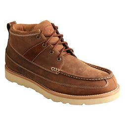 Twisted X Mens Brown Leather Oiled Ankle Casuals for Cowboys