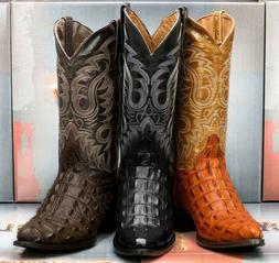 Mens Crocodile Boots Rodeo Cowboy Western Back Cut Pattern G