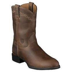 Ariat Mens Heritage Pull On Roper Cowboy Boot Distressed Bro