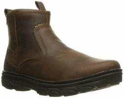Skechers Mens Korver Closed Toe Ankle Western Boots, Dark Br