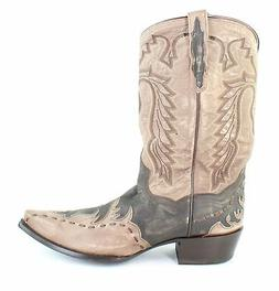 Dan Post Mens Lucky Break Tan Rustic Cowboy, Western Boots S