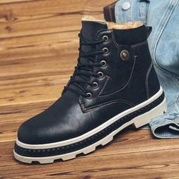 Mens Punk Vintage Motorcycle Boots Fashion Military Leather