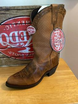 Laredo Mens Size 9 Western Cowboy Boot Round Toe 68365 Brown