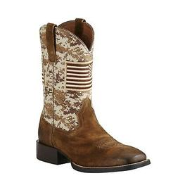 Ariat Mens Sport Patriot Western Boot Flag Antique Mocha San