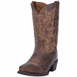 Laredo Mens Tan Bryce Leather Cowboy Boots 12in Marbled
