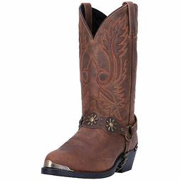 mens travis cowboy boots leather brown