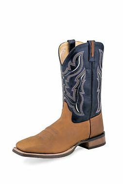 253e7005f26 Old West Navy/Tan Mens Leather Western C...