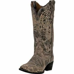 "LAREDO JASMINE Women's Taupe Distressed Leather 12""  Boots 5"