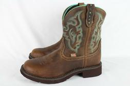 "New Justin Gypsy Women's 8"" Gemma Brown Cowboy Boots 9.5B #"