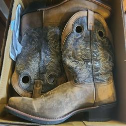 New Laredo Men's Leather Stillwater Cowboy Boot Boots Square