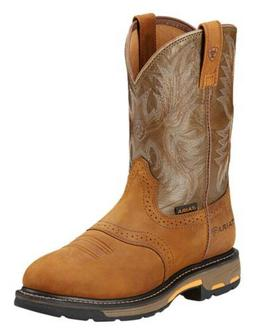 New Mens Ariat Workhog Pull On Cowboy ATS EH Work Boots