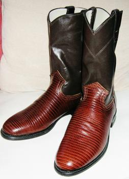 NEW WITHOUT BOX MEN'S WRANGLER BROWN ROPER COWBOY BOOTS LIZA